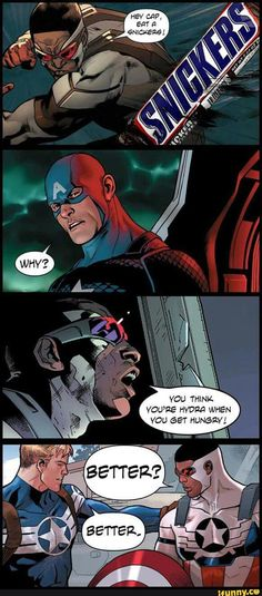 I support the writers idea of making Cap from hydra. He is just a fan with power to make his AU a reality, however this is hilarious!