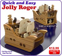 Quick and Easy Jolly Roger Scroll Saw Plan Set