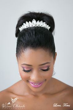 African American. Black Bride. Wedding Hair. Natural Hairstyles. Contact us on info@idoweddingsng.com