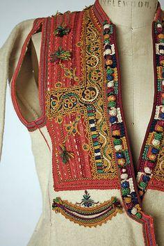 Ensemble (detail) late 19th or early 20th century Macedonian Greece wool, cotton, silk, metallic thread