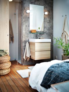 54 modern bathroom design ideas plus tips on how to accessorize yours 45 Contemporary Interior Design, Modern Bathroom Design, Bathroom Interior Design, Ikea Portugal, Ikea Pictures, Upstairs Bathrooms, Home Decor Accessories, House Styles, Night Night
