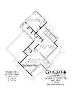 Tranquility Elevation B House Plan 12092 Basement Floor Plan