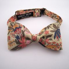 Men's Bow Tie Lemon Floral Cotton by KnotNowBowTies on Etsy, $42.00