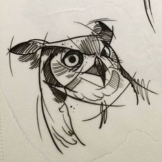 sketch owl tattoo - Google Search