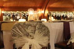 A lovely touch of lace for #wedding guests. |Photo by The Ballroom|