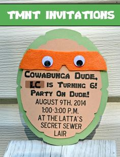 One Artsy Mama - http://www.oneartsymama.com/2014/08/teenage-mutant-ninja-turtle-party-invitations.html