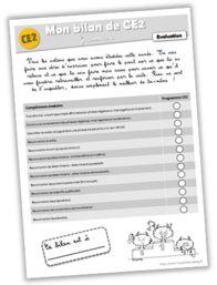 Evaluation - Bilan de grammaire CE2