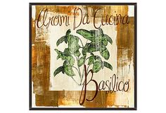 Framed giclee showcasing an Italian herb display. Product: Framed gicleeConstruction Material: MDF and paperColor: Features: FramedReady to hang Dimensions: H x W x 1 DCleaning and Care: Wipe with a dry cloth Italian Restaurant Decor, Herb Shop, New Wall, Nature Scenes, World Cultures, Picture Frames, Graphic Art, Vintage World Maps, Herbs