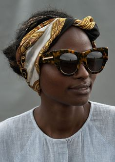 Noted New Zealand eyewear designer Karen Walker recently teamed up with the United Nations' International Trade Centre's Ethical Fashion Initiative, collaborating with local artisans in Kenya to make unique screenprinted and beaded pouches for her Summer 2014 collection.