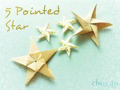 【クリスマスの折り紙】正統派!五角形の星 | 大人の折り紙インテリア