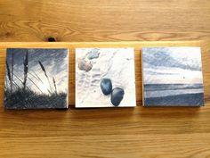 Lavendeldruck auf Holz