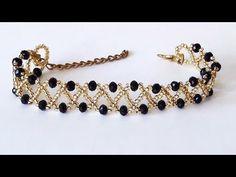 Easy sports bracelet making in 10 minutes – The best ideas Diy Jewelry Rings, Diy Jewelry Unique, Bead Jewellery, Diy Schmuck, Schmuck Design, Diy Necklace, Necklace Designs, Beaded Anklets, Beaded Bracelets