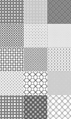 Vector grid patterns - black and white pattern background collection (EPS + JPG) Doodle Art Designs, Doodle Patterns, Line Patterns, Zentangle Patterns, Textures Patterns, Monochrome Pattern, Geometric Pattern Design, Geometric Art, Pattern Art