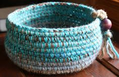 UMELECKY: Crocheted Baskets and A Wall Hanging