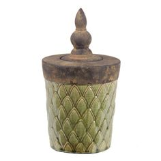 Privilege Large Green Lidded Decorative Ceramic Box - 15910748 ...