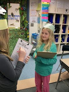 """From Mrs. Lewis' Learning Library, """"Vocab on the Move"""" - during a unit review in reading we typically play this game. The students all have a sentence strip with a vocab word on it. They do not know what the word is though. They have to travel around the room to find a synonym, antonym, example, sentence, etc. The clues are used to determine the word on their heads."""