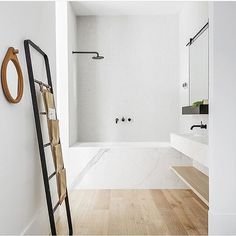 I'm not sure a bathroom gets more beautiful than this. Amazing design by @thestellacollective , featured in our fave @fetemagazine . And that ladder you are eyeing off....yes, you can buy it from us.  @peterclarkephoto  #menuworld #towelladder #thestellacollective #minimalstyle #bathroominspo #porcelainpanels #modernmarblebathroom #fetemagazine #shopneutralinstinct