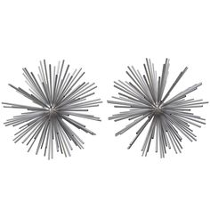 """Pair of Curtis Jere """"Sputnik"""" Metal Sculptures, 1960s 