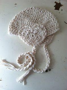 Crochet Earflap Heart Hat