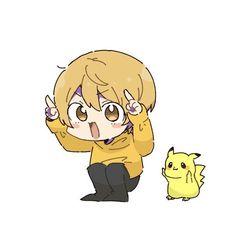 Cute Pikachu, Cute Anime Chibi, My Idol, Cute Babies, Cool Art, Character Design, Baby Boy, Drawings, Boys