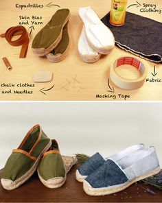 DIY Espadrilles Felt Shoes, Sock Shoes, Shoe Boots, Espadrilles, Sewing Clothes, Diy Clothes, Mochila Jeans, Shoe Crafts, Knitted Slippers
