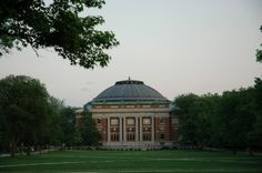 Foellinger Auditorium was built in 1907.  It is at the south end of the Main Quad housing both classes and performances!