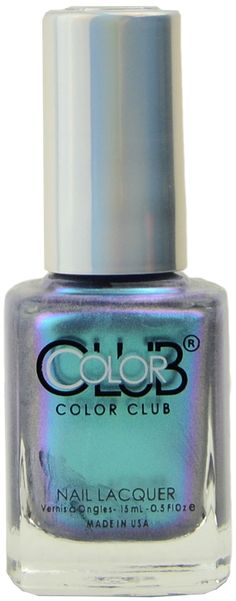 Hooked by Color Club Spa Branding, Polish Names, R Colors, Color Club, Nails Magazine, Green And Purple, Manicure, Perfume Bottles, Nail Polish