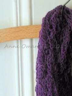 Long lace knit purple hand knitted scarf by Anneatcountrybazaar, £35.00