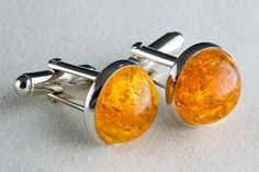 Striking Amber Cufflinks by JanPalomboDesign on Etsy, $60.00