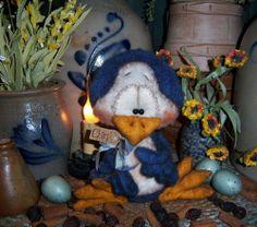 "Primitive Easter Chick Bird Robin 6"" Doll Vtg Patti's Ratties Bear Canary Ornie"