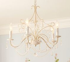 Pottery Barn Kids Mia Chandelier. Perfect for E's room.