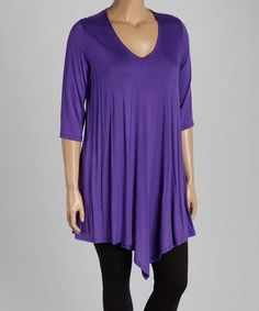 Look what I found on #zulily! Purple V-Neck Tunic - Plus #zulilyfinds