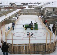 Canadian Humor: Canadian Backyard -We had rinks in our backyard, it's true but ours was not a hockey rink with 4 girls! Thanks DAD!!!