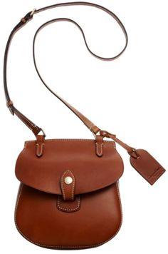 Dooney & Bourke Brown Brasil Smooth Leather Crossbody Bag