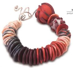 #ClippedOnIssuu from ArtJewelry Making Waves Clay Bracelet
