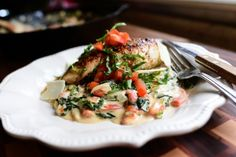 The Pioneer Woman's Creamy Spinach and Red Pepper Chicken
