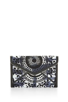 Revel Leo Clutch - The textured Leo Clutch is the perfect sidekick for a night out. It features interior credit card slots so you don't need to bring your wallet out.    Style #: XSP7ERVC17