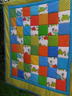 Babydecke mit lustigen Tieren! Westfalenstoffe von Meine bunte Flickenecke auf DaWanda.com