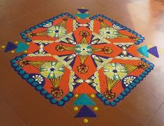 Kolam rangoli designs are made in South India. They are pretty, intricate patterns made duing festivals. Make kolam rangoli designs for Ugadi and Pongal. New Rangoli Designs, Beautiful Rangoli Designs, Kolam Rangoli, Pooja Rooms, Indian Festivals, Yin Yang, Sacred Geometry, Pattern Making, Bohemian Rug