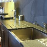 Photographs of Slate Kitchen Worktops, Work Surfaces, Sink Surrounds Slate Floor Kitchen, Open Plan Kitchen, Slate Worktops, Kitchen Worktops, Cottage Modern Kitchens, Belfast Sink Kitchen, Walnut Doors, Breakfast Bar Kitchen, L Shaped Kitchen
