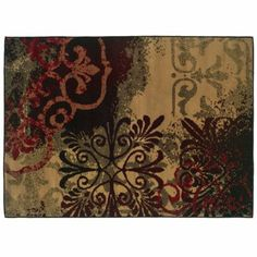 Campbell Red & Brown Medallion Area Rug, 5x7 | Kirkland's