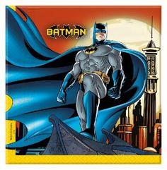 20 x Batman Themed Birthday Party Paper Napkins Serviettes Batman 2, Party Napkins, Superhero Party, Gotham, Minions, Avengers, Birthday, Kids, Fictional Characters