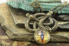 Golden Snake Serpent Necklace, Snake Necklace, Serpent Jewelry, Gothic, Serpent…