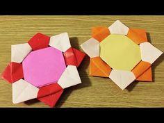 【折り紙】名前が書けるメダル。メッセージ書けるので名札にもGood!ORIGAMI_MEDAL - YouTube