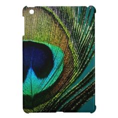 Peacock Feather Colorful Elegant iPad Mini Case #giftsreview#gifts#special