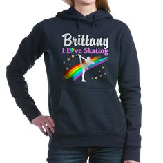SKATING PRINCESS Women's Hooded Sweatshirt Inspire your lovely Skater with our personalized Figure Skating Tees, Apparel, and Gifts. http://www.cafepress.com/sportsstar/10189550 #Figureskating #Skatergirl #Borntoskate #Lovetoskate #Icequeen