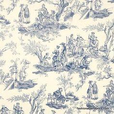 Fabric... Midnight Pastoral blue by Alexander Henry Fabrics