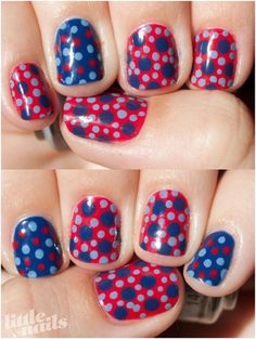 Crazy Polka Dots Nail Art Designs