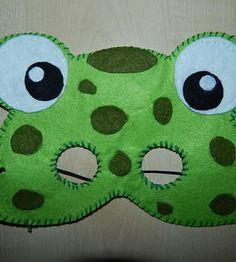 Żabka z filcu Maska http://dzieciociuszek.pl/products/37118