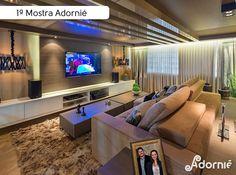 Home Theater por Creative Arquitetura.  #MostraAdornie2014 Foto: Nenad - Estúdio Fotográfico
